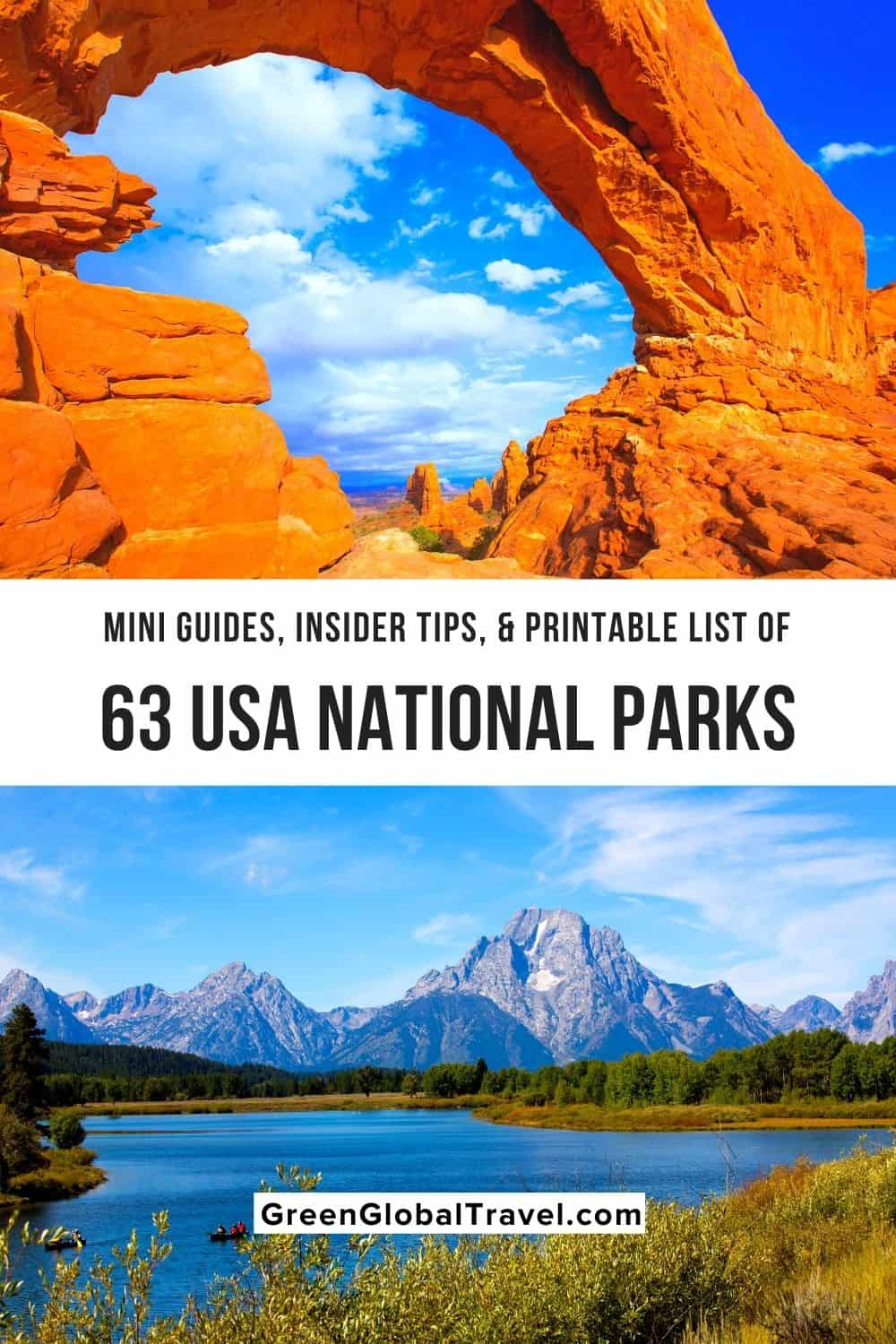 List of all 63 National Parks in the United States By State: including US National Parks Map, Printable National Park Checklist, Mini National Park Guides, FAQs & National Park Information. |National Parks United States | National Parks Map | National Parks USA | National Parks List