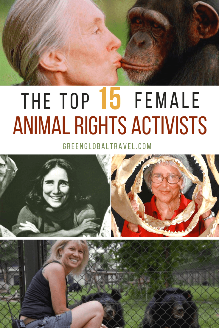 For Women's History Month & International Women's Day, we spotlight 15 Inspirational Women who are Wildlife Conservationists and Animal Rights Activists via @greenglobaltrvl #inspirationalwomen #inspirationalwomeninhistory #inspirationalwomencareer #inspirationalwomenlistof #animalrights #animalrightsactivist #animalrightsactivistpeople #wildlifeconservation #wildlifeconservationanimals #womenshistorymonth #internationalwomensday