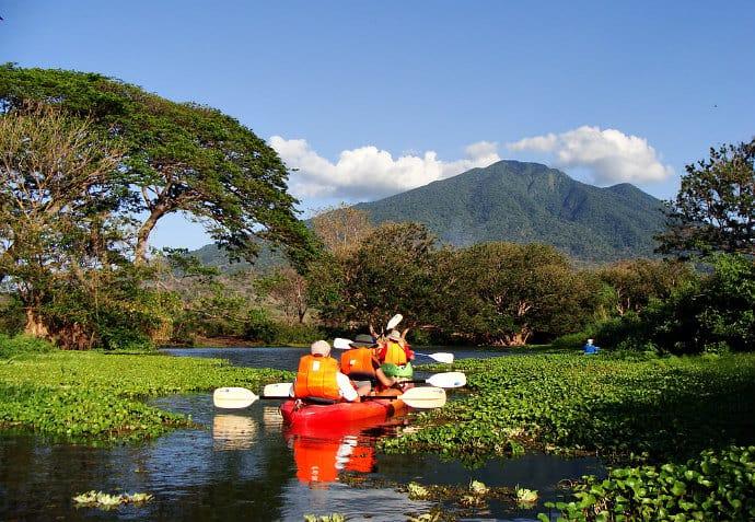 Kayaking around Isla de Ometepe, Nicaragua