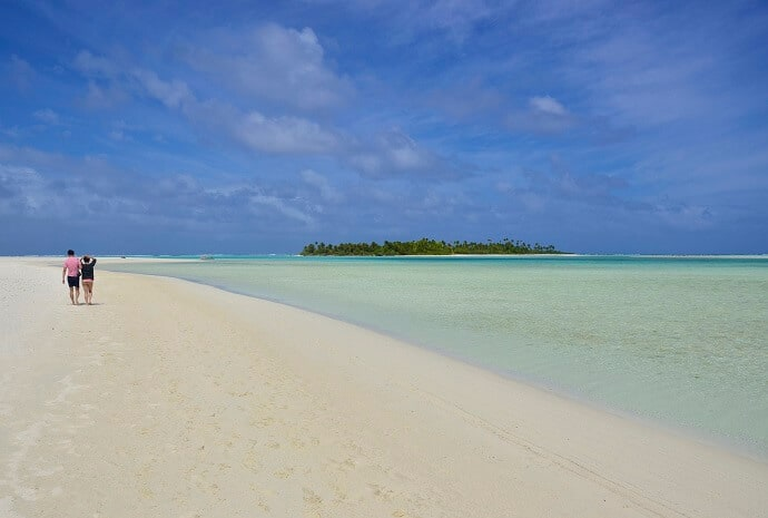 Aitutaki Cook Islands in the Polynesian Islands