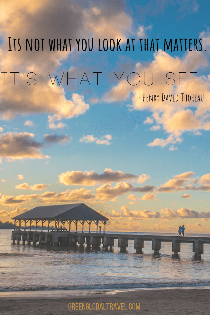 "Famous Travel Quotes ""It's not what you look at that matters. It's what you see"". - Henry David Thoreau"