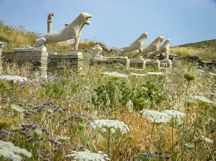 Picturesque Greek Island - Delos Island