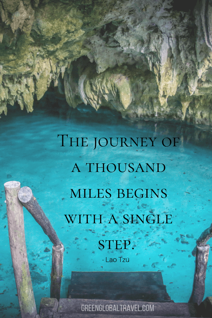 "Inspirational short travel quotes -""The journey of a thousand miles begins with a single step."" ― Lao Tzu"