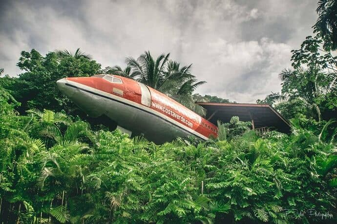 Quirky accommodation in Costa Rica - Airplane Hotel