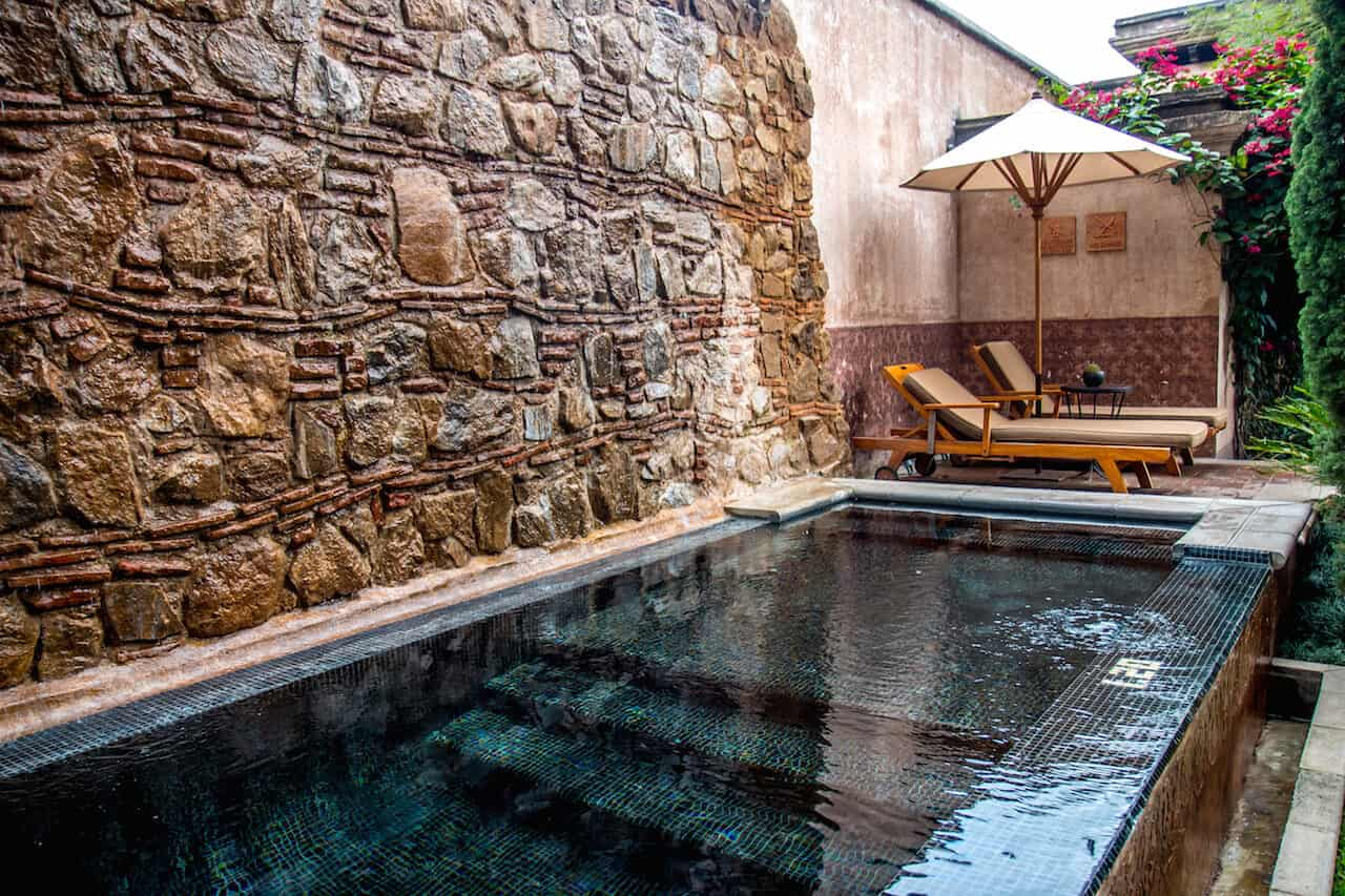 Best Hotels in Antigua Guatemala: El Convento Courtyard Pool
