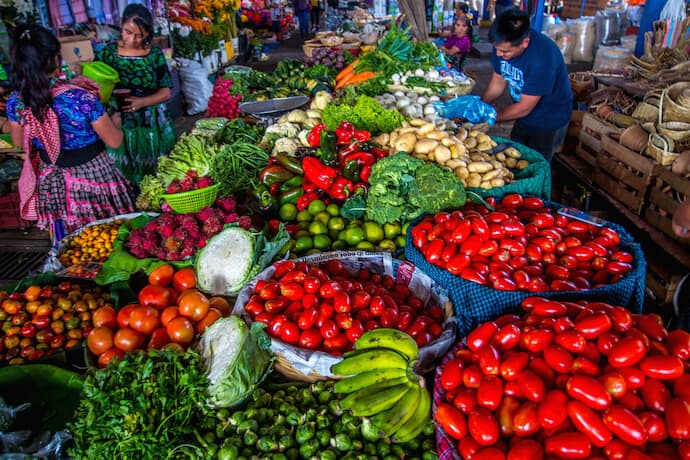 Antigua Street Market in Antigua Guatemala