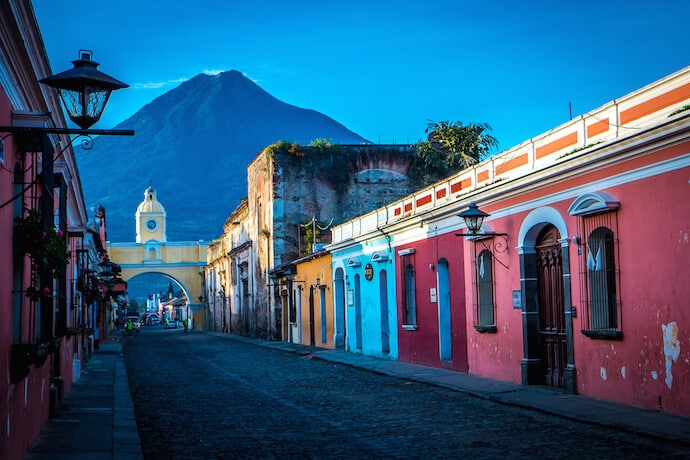 Streets at Sunrise in Antigua Guatemala