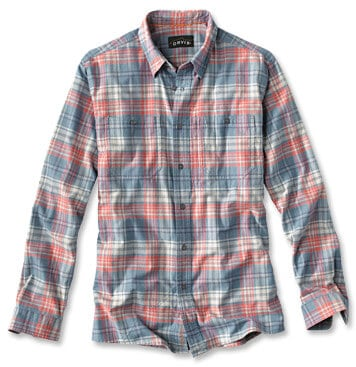 Eco Friendly Clothes made from recycled bottles - Orvis Flat Creek Tech Flannel