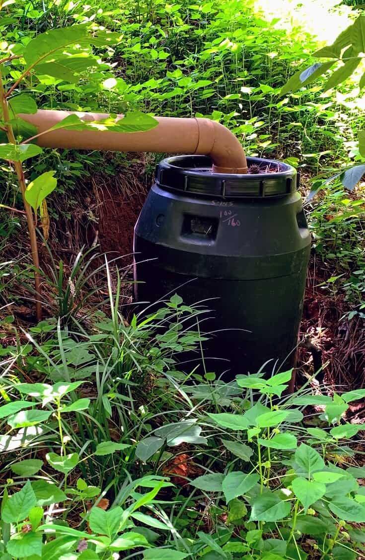 Rainwater Harvesting System from drain pipe