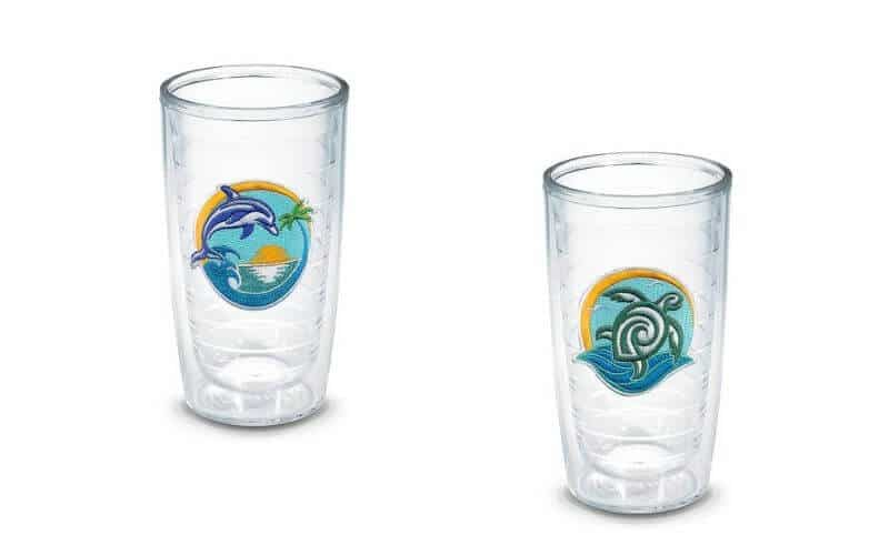 tervis reusable tumblers with recycled plastic emblems