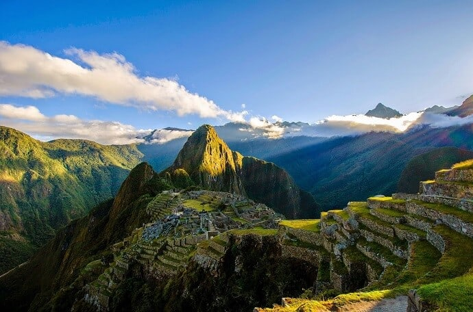 Machu Picchu Terraces for rainwater catchment