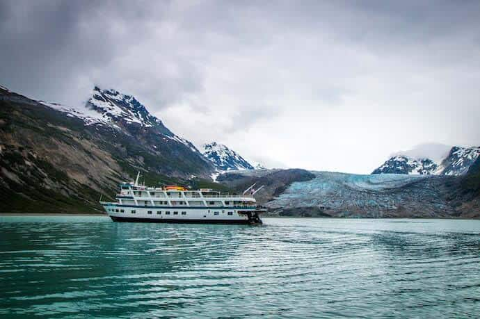 Alaska Inside Passage Cruise: The Admiralty Dream at Reid Glacier in Glacier Bay National Park
