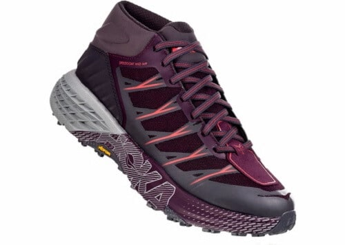 Vegan Waterproof Hiking Boots for Women - Hoka One One Speedgoat Mid Waterproof
