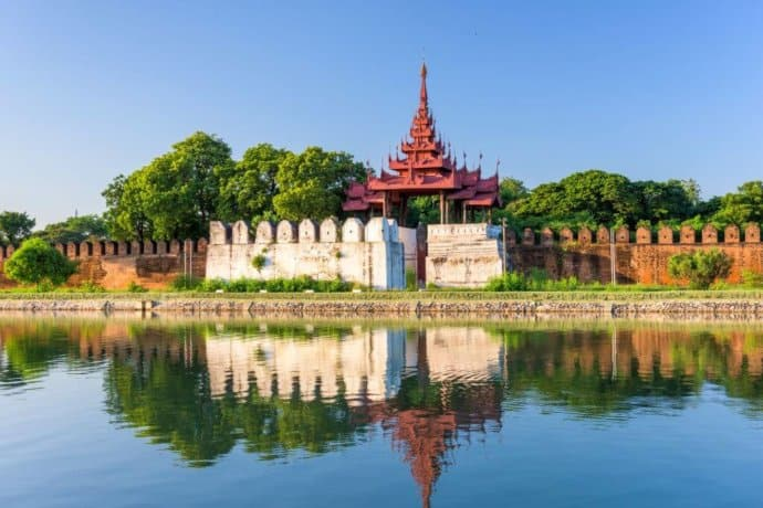 Myanmar History - Mandalay Palace and Moat