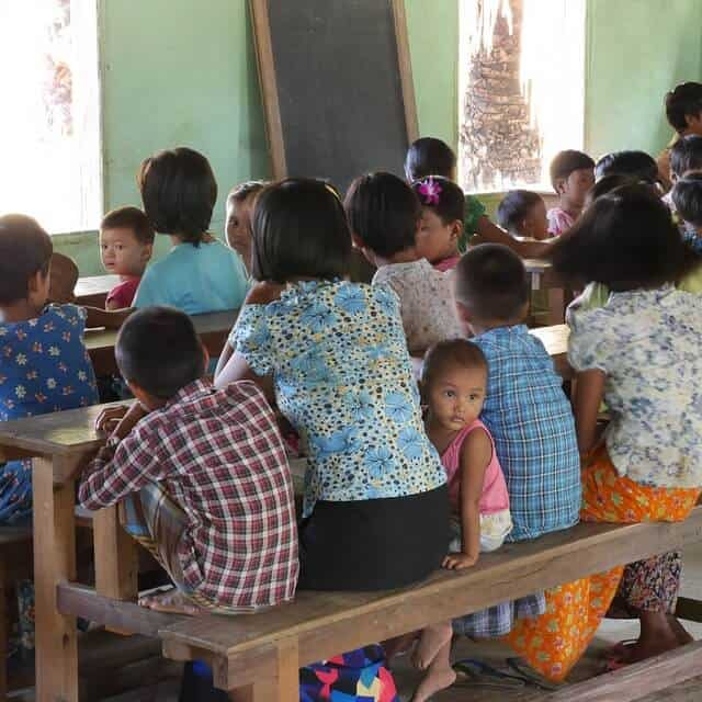 Language in Myanmar - Myanmar village school