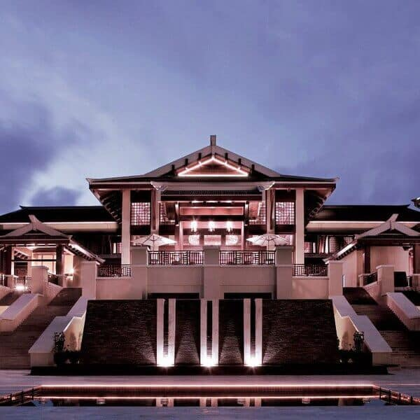 Exterior view of the Ritz-Carlton in Yalong Bay, China