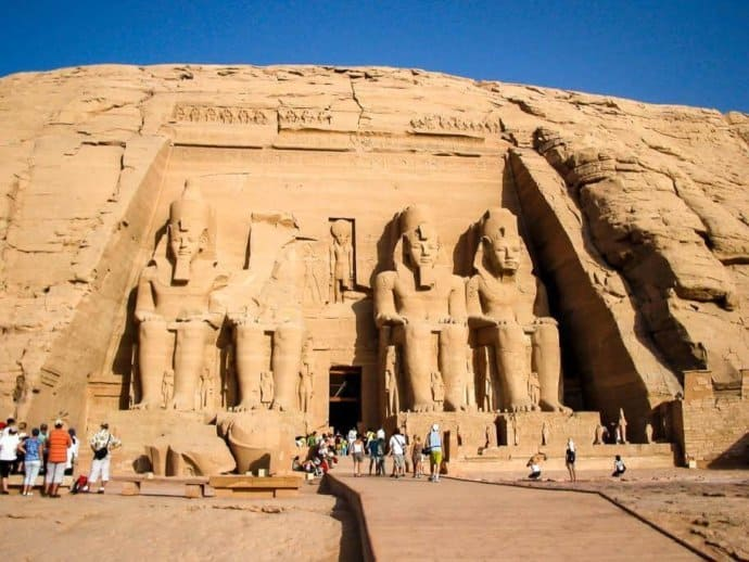The Abu Simbel Temples of Egypt