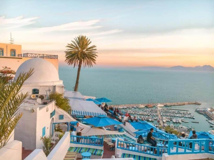 Sunset in Tunis, Tunisia