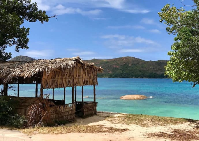 Beach on Praslin Island, Seychelles
