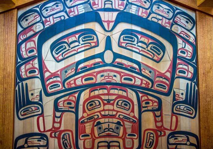 Traditional Tlingit Art at Sealaska Heritage Museum in Juneau, Alaska
