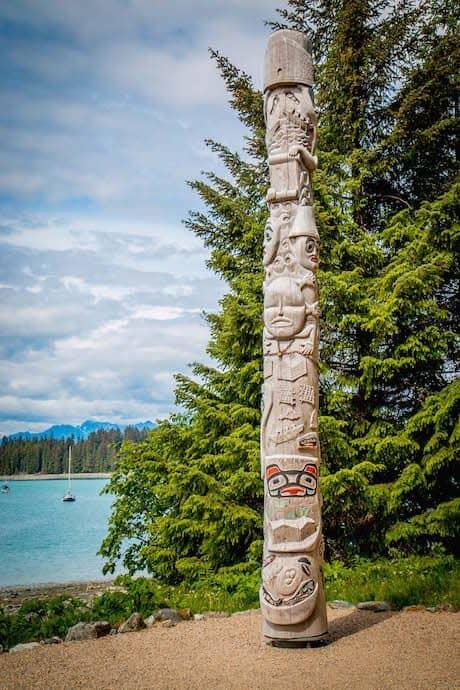 Tlingit Totem Pole in Glacier Bay National Park
