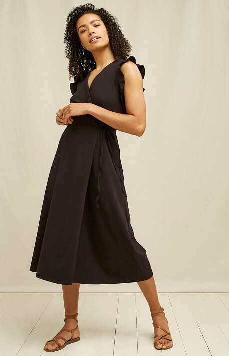 Peopletree Organic Cotton -Melanie Wrap dress