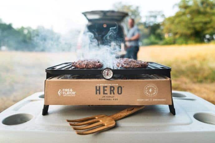 Fire & Flavor HERO Portable Charcoal Grill
