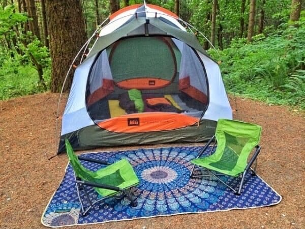 Tarpestry for Backyard Camping
