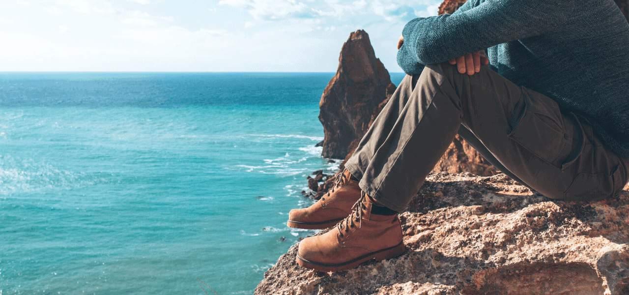 Mens Comfortable Walking Hiking Shoes