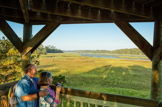 Observation deck at Skidaway Island State Park