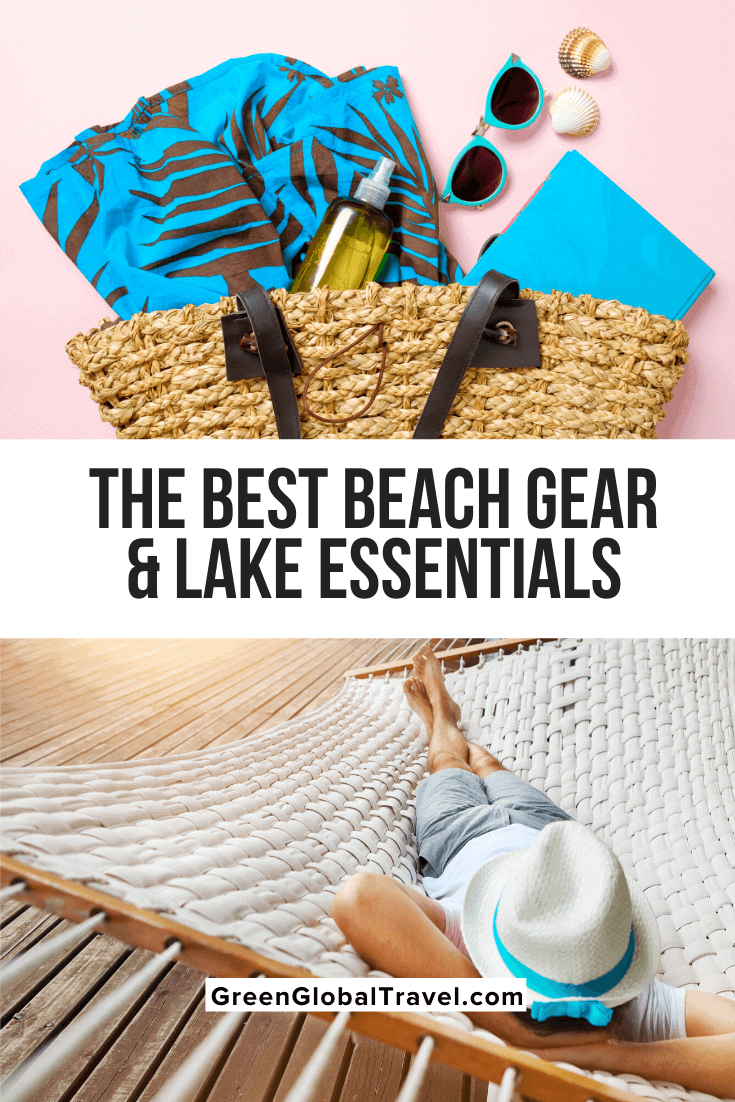 The Best Beach Gear & Lake Essentials for Summer Staycations including Cabanas/Hammocks, Coolers, Swimwear, Sunglasses, Sandals, Fishing Gear & more! | Beach Supplies | things to take to the beach | Beach Gear | Beach Equipment | Beach Gadgets | Lake Gear | Summer Staycations | Staycation near me | summer staycation | things to take to the lake | stuff for the lake | beach camping gear | Beach Fishing gear | must have beach gear | best gear for the beach | beach items | cool beach stuff
