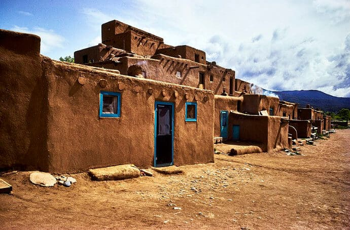 Taos Pueblo residential complex shows the Pueblo culture that UNESCO World Heritage protects