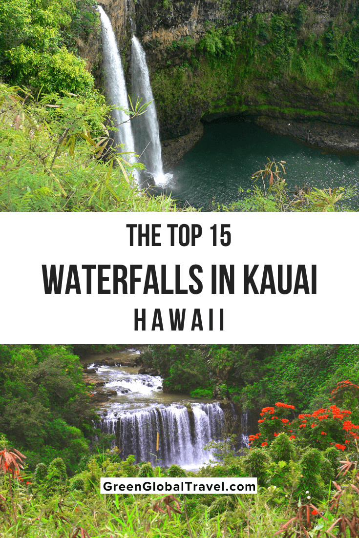 The Top 15 Waterfalls in Kauai - With some falls reaching hundreds of feet high and flowing into emerald pools, Kauai waterfalls are nothing short of mesmerizing. | waterfalls kauai | best waterfalls on kauai | | waimea canyon waterfall | hiking to waterfalls in kauai | waterfalls in kauai | best waterfalls on kauai | waterfalls on kauai | secret falls kauai | kauai waterfalls hike | hiking to kauai waterfalls | kauai hiking waterfalls | kauai hikes to waterfalls | kauai hikes with waterfalls