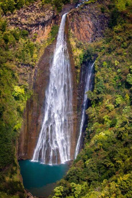 Manawaiopuna Falls (aka Jurassic Park Falls) in Kauai Hawaii