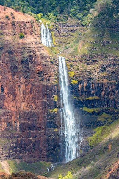 Waipo'o Falls in Waimea Canyon in Kauai, Hawaii