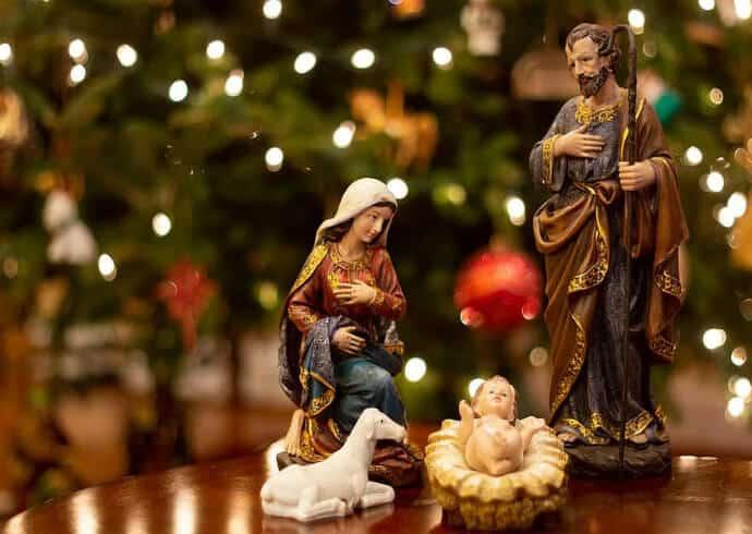 Mexican traditional Christmas nacimiento
