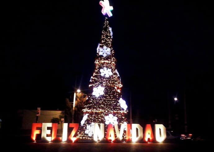 Christmas tree in Mexico