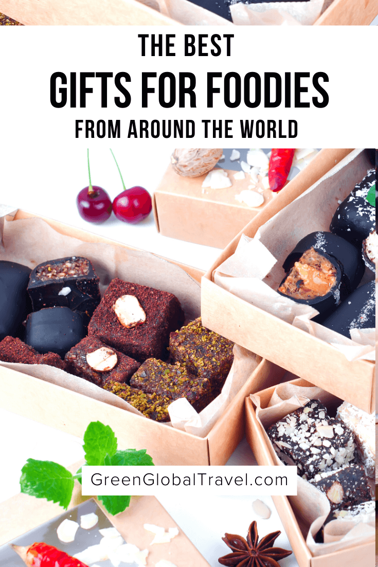 The Best Food Gifts From Around the World (The Ultimate Gourmet Guide) includes Baked Goods Gift Baskets, Chocolate Gift Boxes, Coffee Gift Sets, Tea Gift Sets, Prepared Food Gifts, Vegetarian/Vegan Food Gifts, Meat Gifts and more! | food gifts for men | best foodie gifts | food presents | foodie gifts for christmas | monthly food subscription boxes | gourmet foodie gifts | foodie gifts | foodie gift basket | gifts for foodies | snack gift box  | foodie subscriptions | best gifts for foodies