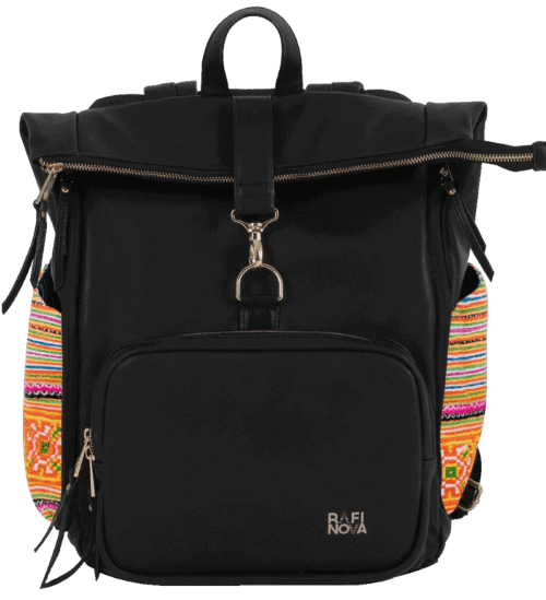 Rafi Nova SuperNova Black Vegan Backpack