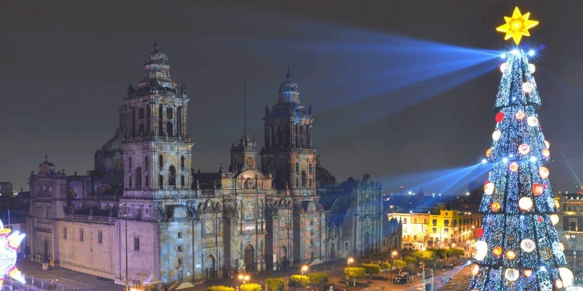 Mexico at Christmas via canva