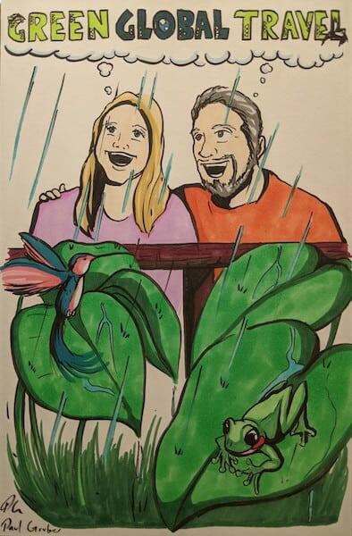 Mary Gabbett & Bret Love of Green Global Travel in 2010