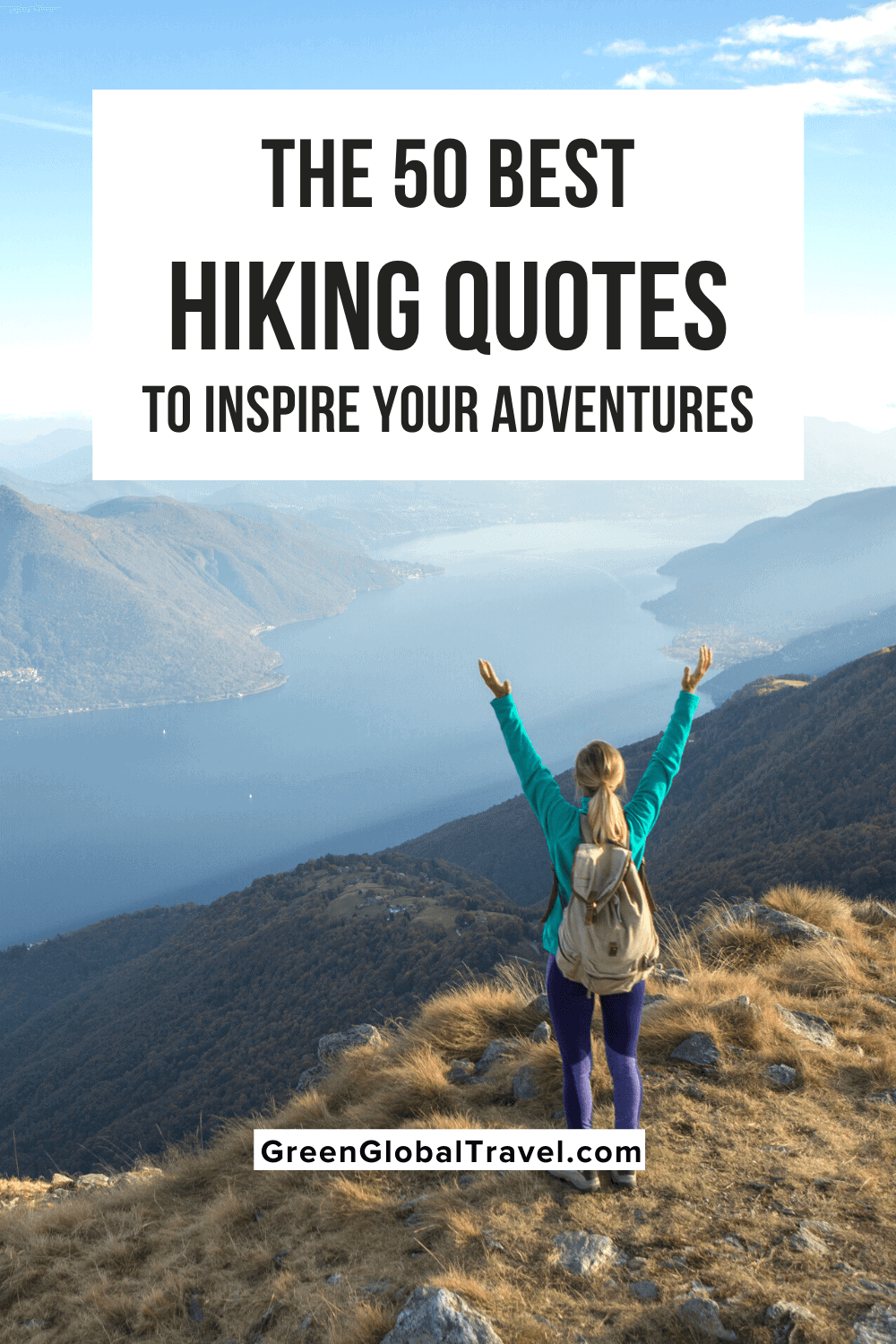 The 50 Best Hiking Quotes to Inspire Your Adventures includes funny hiking quotes, inspirational hiking quotes, and John Muir quotes on hiking. | quotes about hiking | hiking captions | hiking quotes funny | hiking funny quotes | funny quotes about hiking | hiking instagram captions | funny hiking captions | trekking captions | hiking with friends quotes | hiking quotes for instagram | caption for hiking | mountain hiking quotes | inspiring hiking quotes | quotes about hiking mountains |