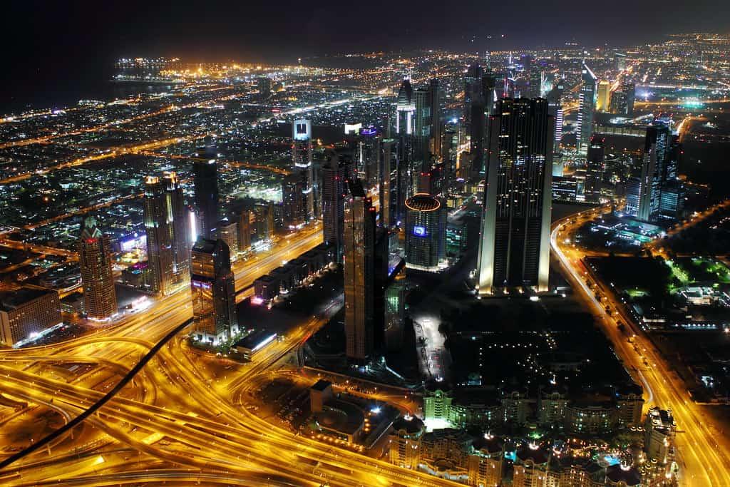 Dubai by Night from the Burj Khalifa