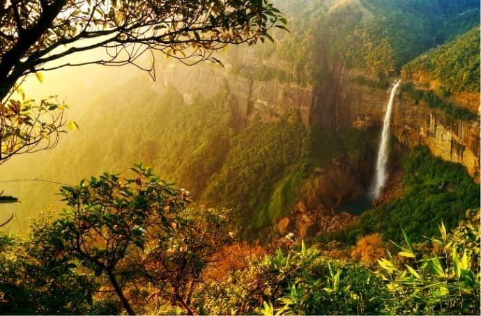 Nohkalikai Falls via Canva