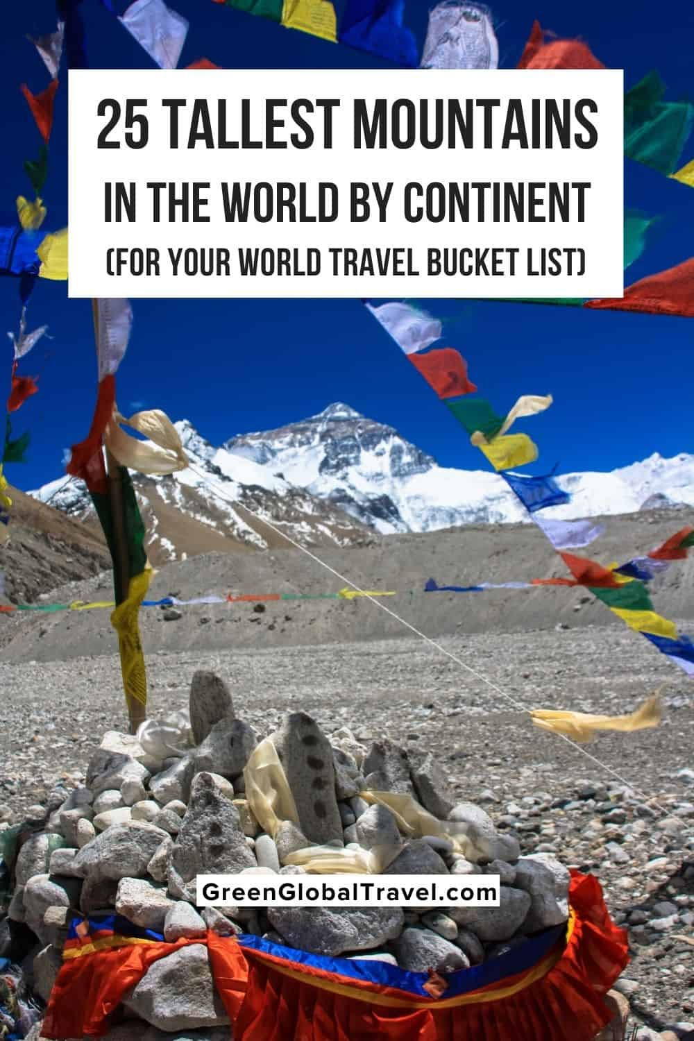An overview of the 25 Tallest Mountains in the World, broken down by continent, including the famed Seven Summits and many of the Volcanic Seven Summits for your World Travel Bucket List.