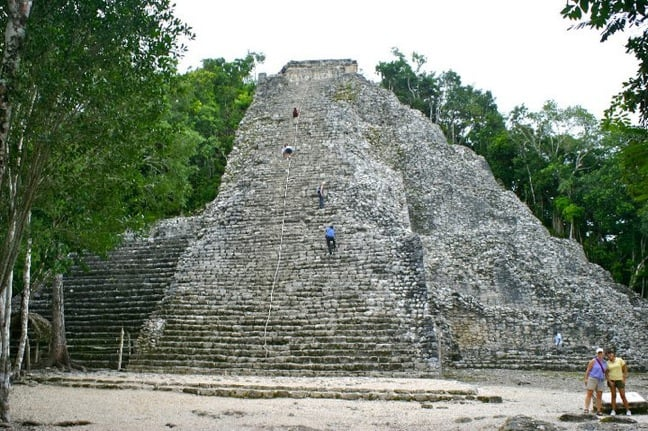 Nohoch Mul Pyramid in Coba, Mexico