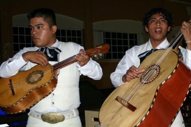 Mariachis Serenading in Playa del Carmen, Mexico