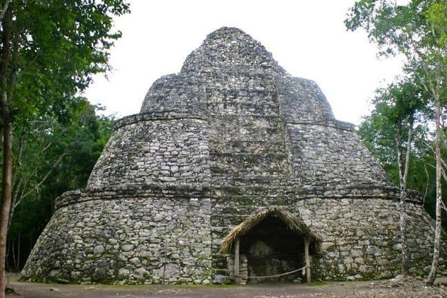 A Mayan Pyramid in Coba, Mexico