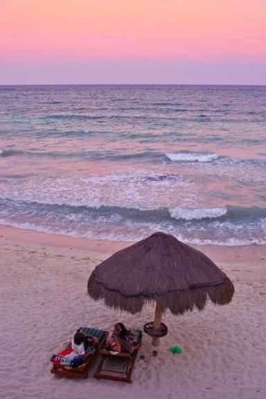 Sunset in Riviera Maya, Mexico