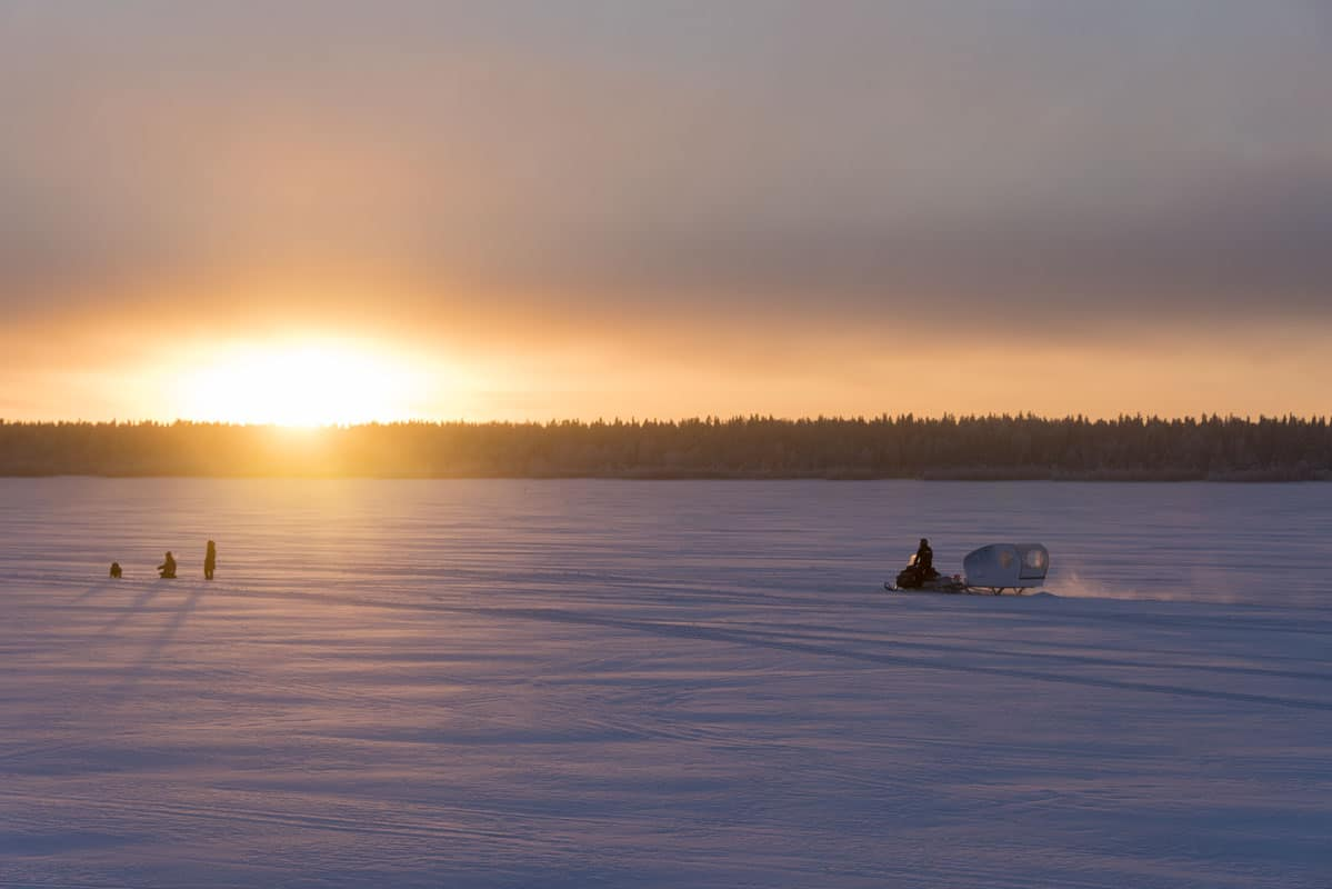 Arctic sunset in Finnish Lapland
